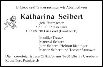 Zur Gedenkseite von Katharina