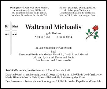 Zur Gedenkseite von Waltraud