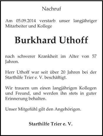 Zur Gedenkseite von Burkhard