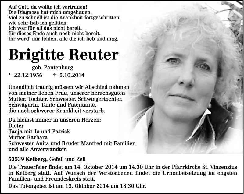 Anzeige von  Brigitte Reuter