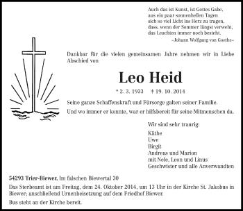 Zur Gedenkseite von Leo