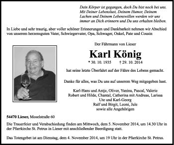 Zur Gedenkseite von Karl