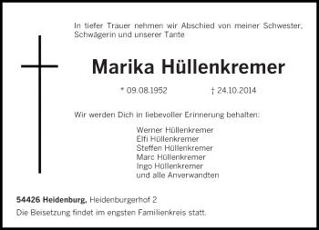 Zur Gedenkseite von Marika