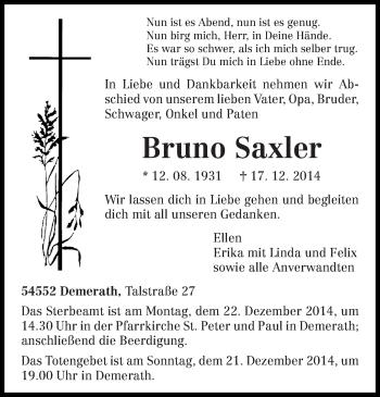 Zur Gedenkseite von Bruno