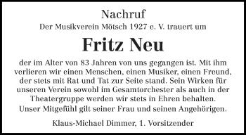 Zur Gedenkseite von Fritz