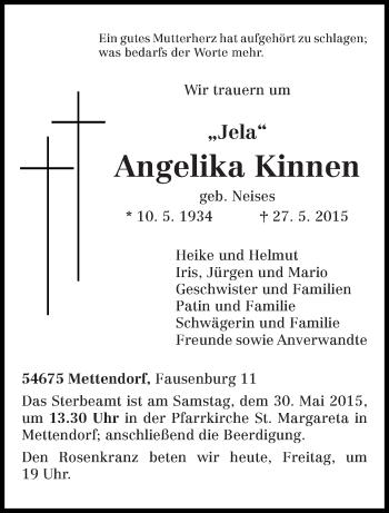 Zur Gedenkseite von Angelika