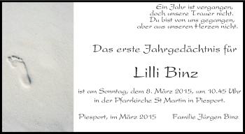 Zur Gedenkseite von Lilli