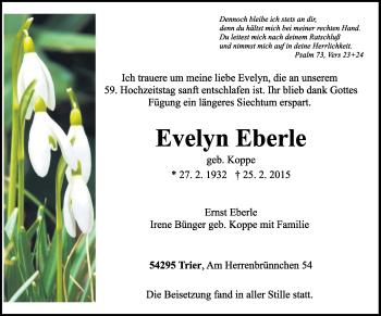 Zur Gedenkseite von Evelyn