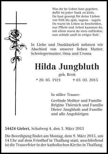 Zur Gedenkseite von Hilda