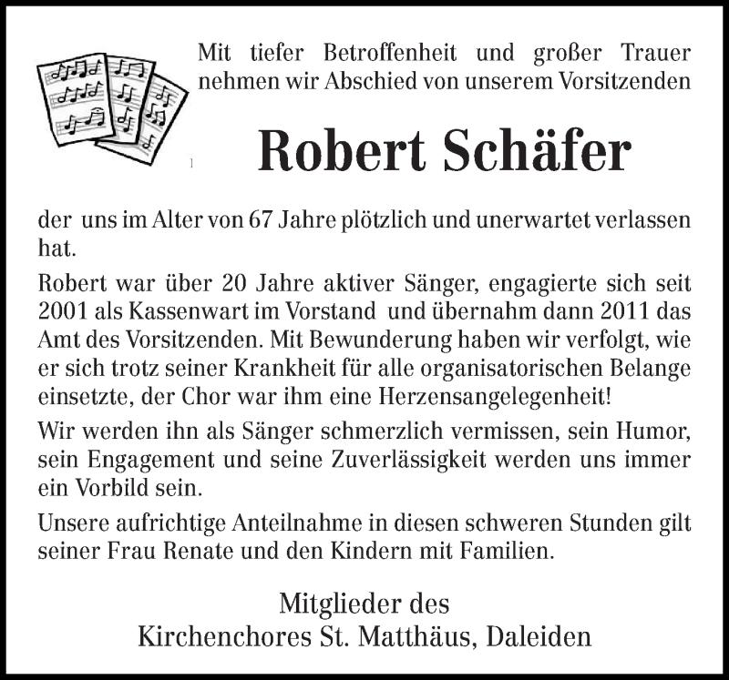 Traueranzeige für Robert Schäfer vom 31.03.2017 aus trierischer_volksfreund