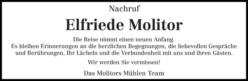 Traueranzeige für Elfriede Molitor vom 13.03.2019 aus trierischer_volksfreund