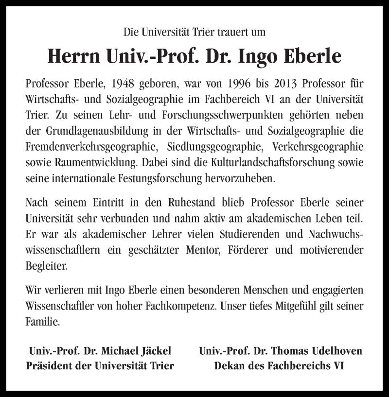 Traueranzeige für Ingo Eberle vom 12.04.2019 aus trierischer_volksfreund