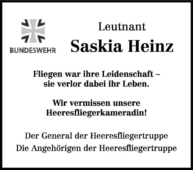 Traueranzeige für Saskia Heinz vom 13.07.2019 aus trierischer_volksfreund