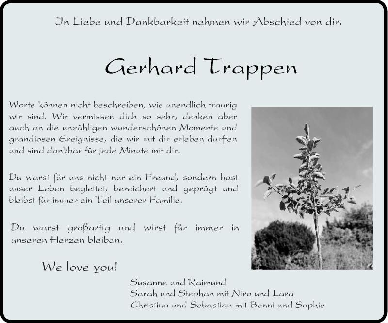 Traueranzeige für Gerhard Trappen vom 29.09.2020 aus trierischer_volksfreund