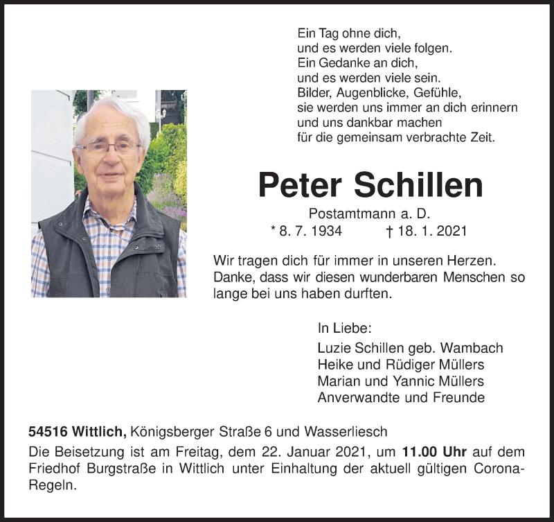 Todesanzeige von  Peter Schillen