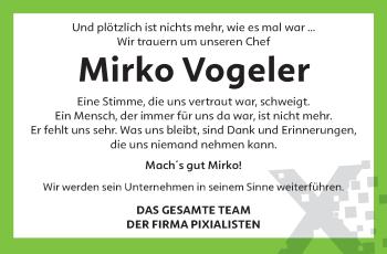 Traueranzeige von Mirko Vogeler von trierischer_volksfreund