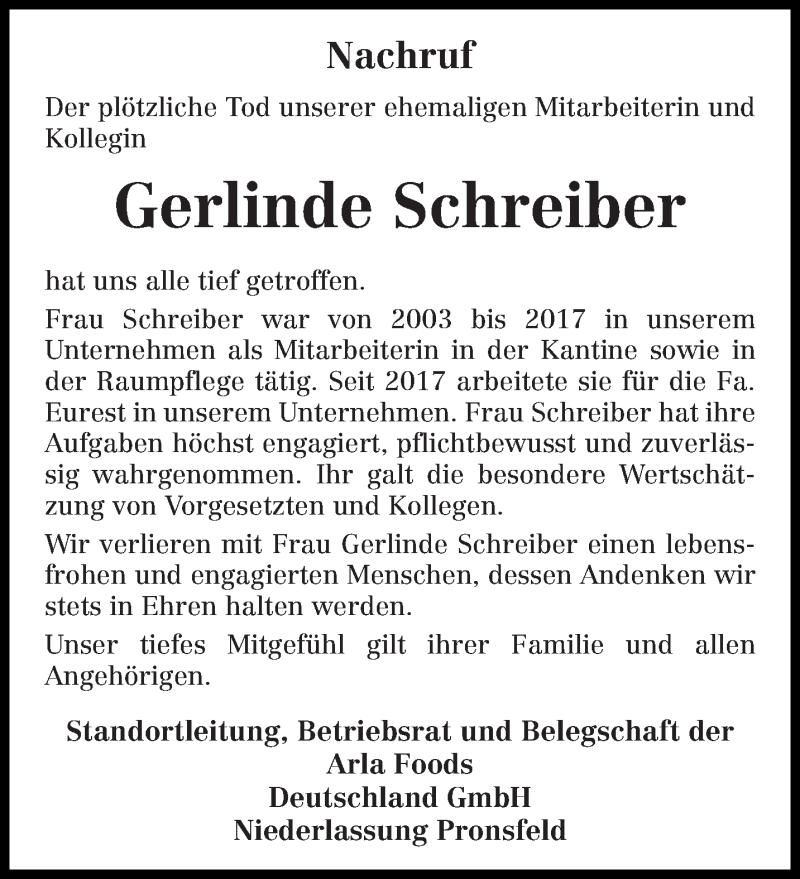 Traueranzeige für Gerlinde Schreiber vom 23.02.2021 aus trierischer_volksfreund