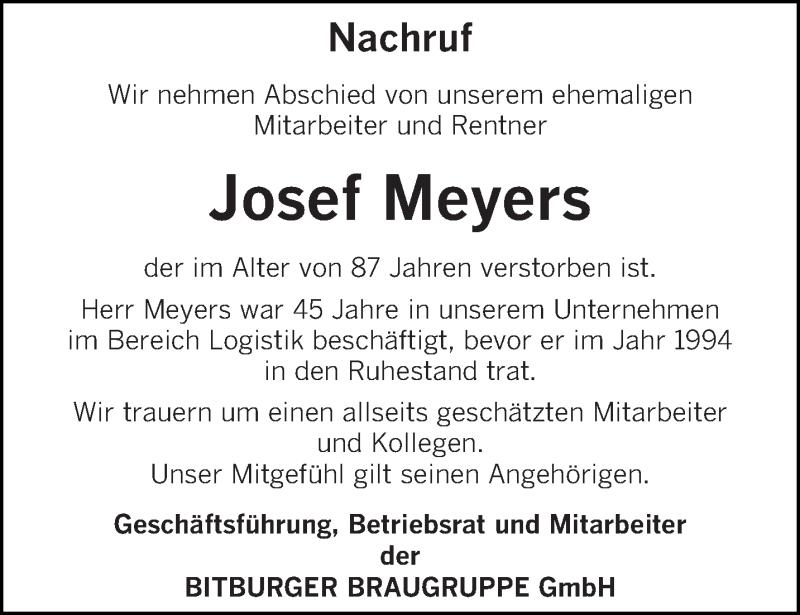 Traueranzeige für Josef Meyers vom 08.06.2021 aus trierischer_volksfreund