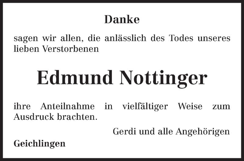 Traueranzeige für Edmund Nottinger vom 04.09.2021 aus trierischer_volksfreund