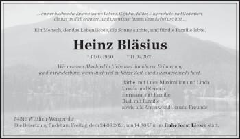 Traueranzeige von Heinz Bläsius von trierischer_volksfreund