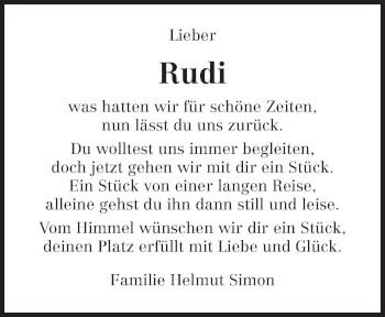 Traueranzeige von Rudolf Schmitt von trierischer_volksfreund